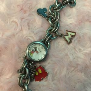 Cute Disney watch with charms Mickey Mouse